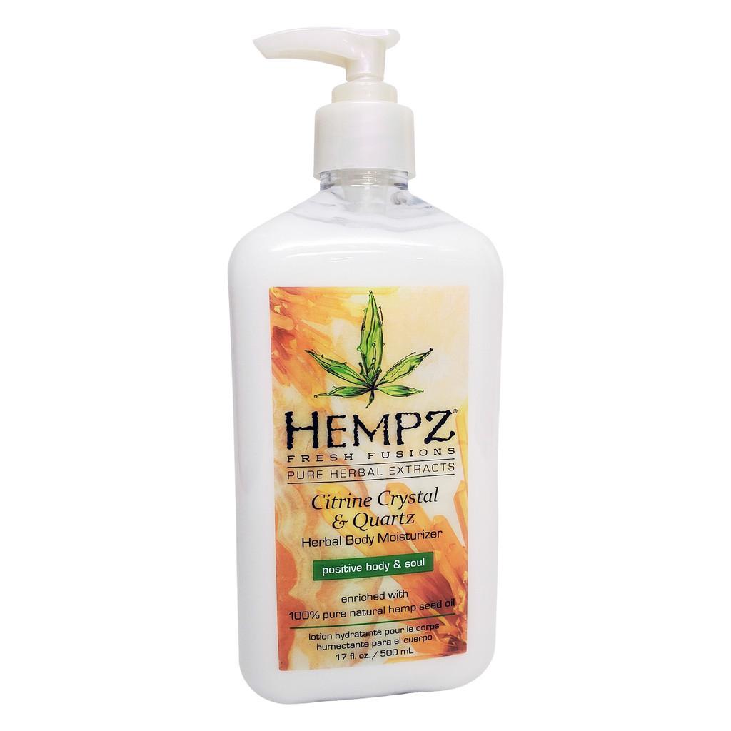 Hempz CITRINE CRYSTAL & QUARTZ Herbal Body Moisturizer