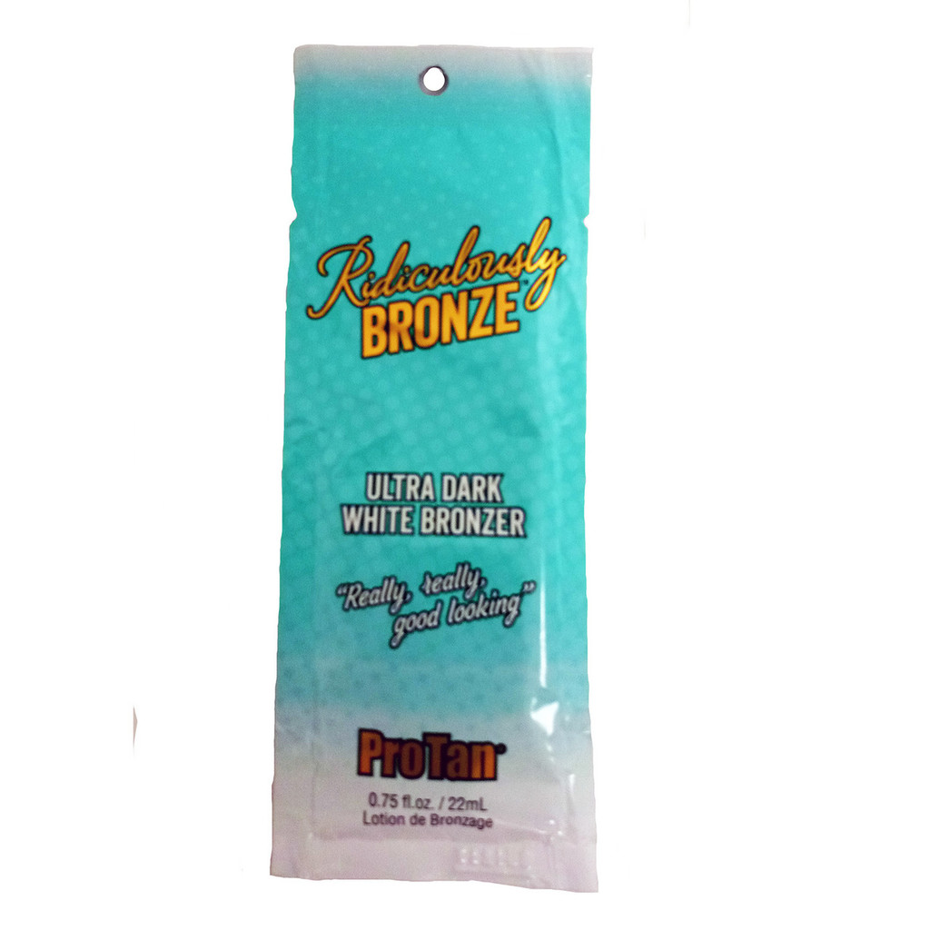 Pro Tan RIDICULOUSLY BRONZE White Bronzer - .75 oz. Packet