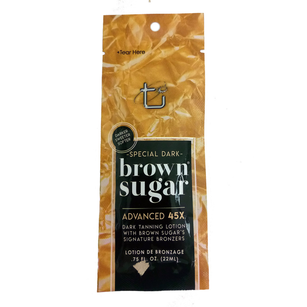 Brown Sugar SPECIAL DARK  45 Bronzer Dark Lotion  - .75 oz. Packet