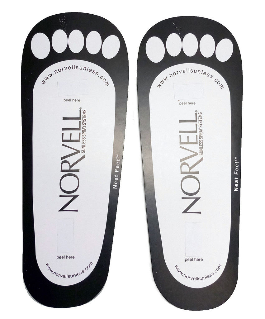 Norvell Disposable Cardboard Sunless Sticky Feet