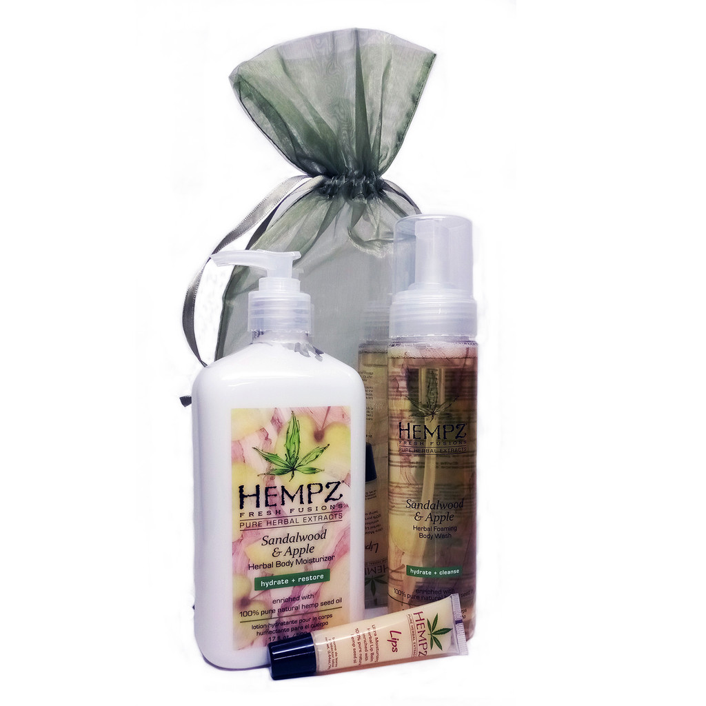 Hempz SANDALWOOD Bath & Body Gift Set - 3 pc.