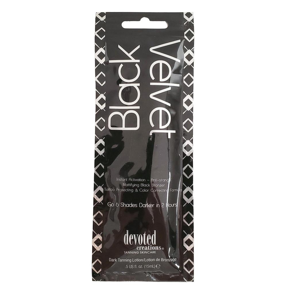 Devoted Creations Black Velvet Anti-orange Mattifying Black Bronzer- .50 oz. Packet