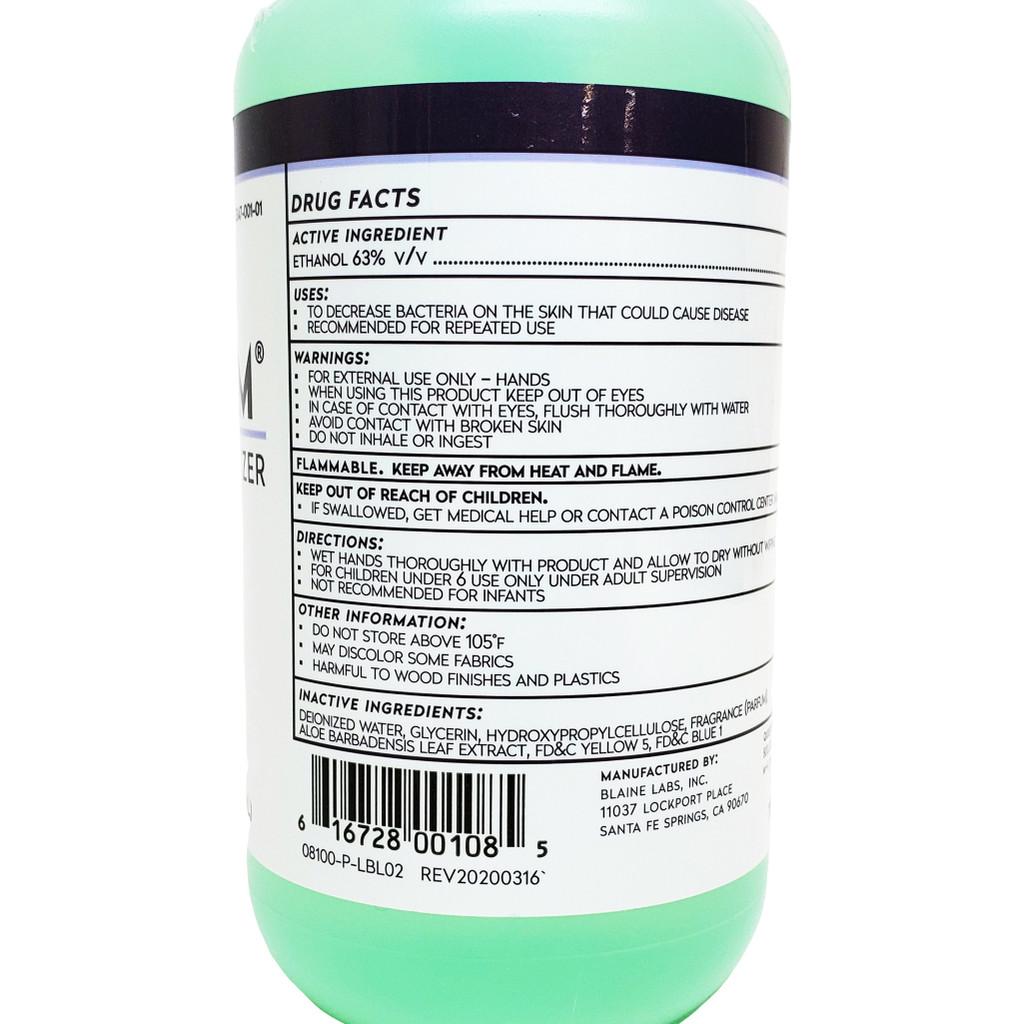 BlaineLabs Revitaderm Antimicrobial Hand Sanitizer 8.0 Fl. Oz.