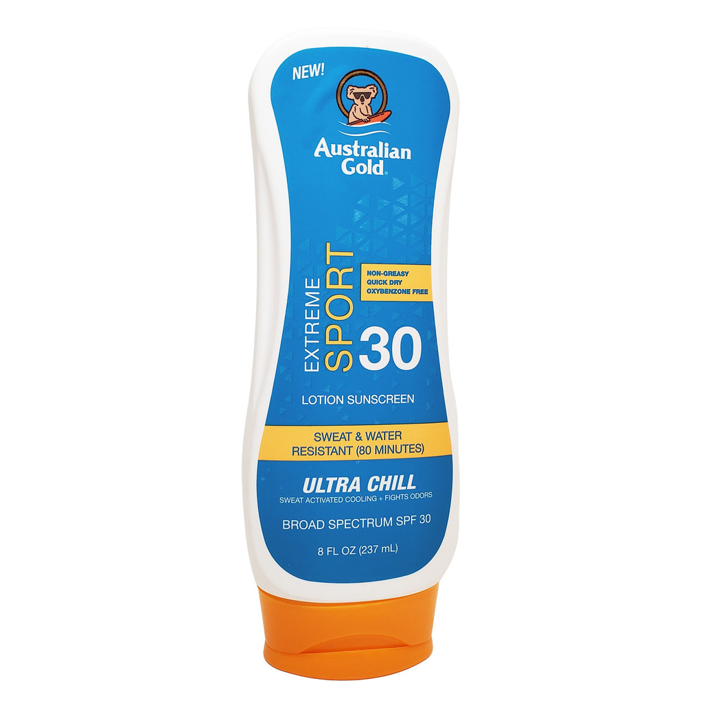 Australian Gold Extreme Sport Sunscreen Lotion with Ultra Chill, SPF 30 - 8oz