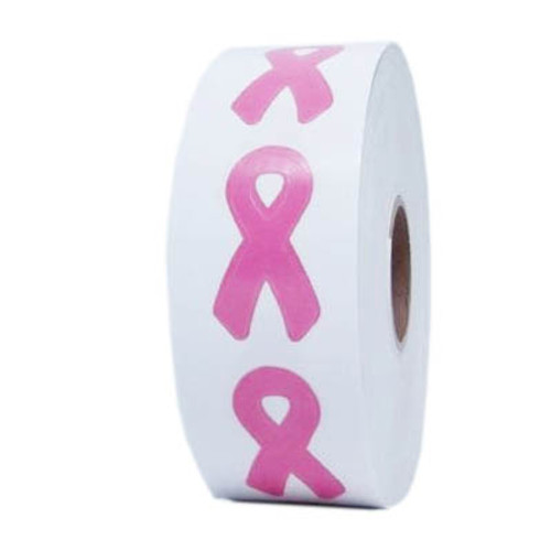 PINK RIBBON Body Stickers - 1000 ct.