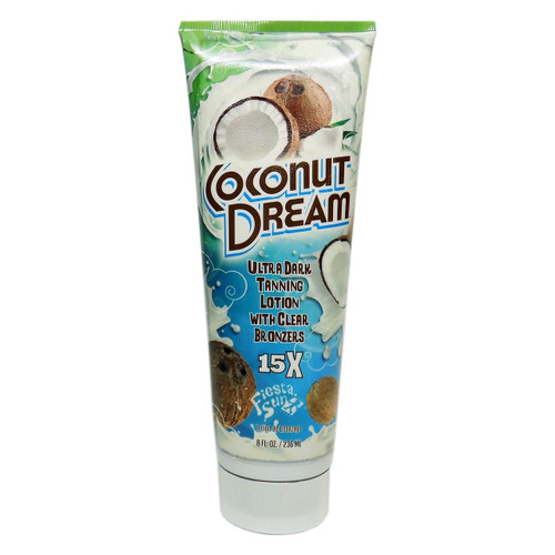 Fiesta Sun COCONUT DREAM Ultra Dark Tanning with Clear Bronzers - 8 oz.