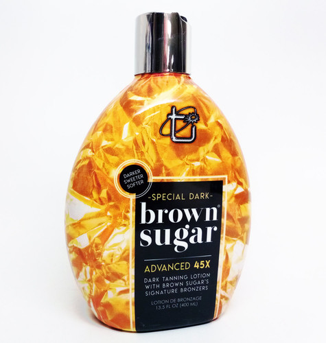 Brown Sugar SPECIAL DARK Brown Sugar 45 Bronzer Dark Tanning Lotion - 13.5 oz.