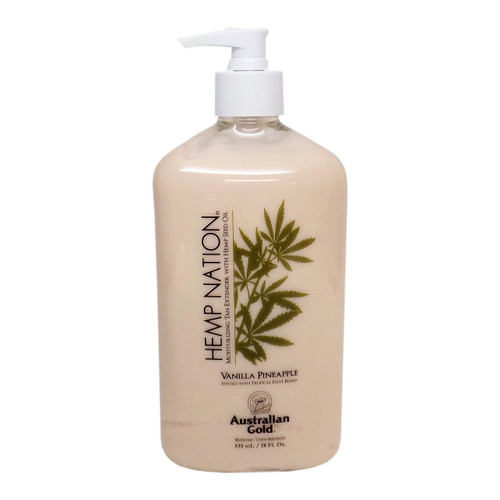 Australian Gold HEMP NATION VANILLA PINEAPPLE Tan Extender - 18 oz.