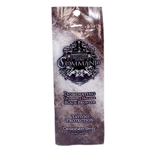 Designer Skin COMMAND Black Bronzer for Men - .5 oz. Packet