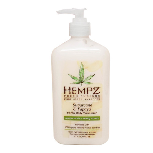 Hempz SUGARCANE & PAPAYA Herbal Body Moisturizer - 17 oz.