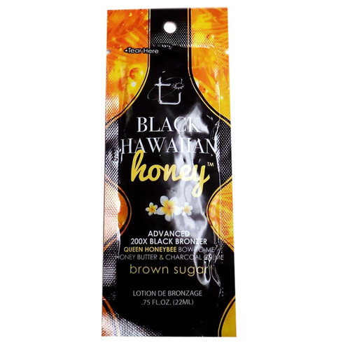 Brown Sugar BLACK HAWAIIAN HONEY Advanced 200x Black Bronzer - .75oz. Packet