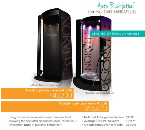 Norvell Auto Revolution Plus Sunless Spray Tan Booth