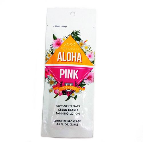 Tan ASZ U ALOHA PINK Advanced Dark Clean Beauty Tanning Lotion - .75 oz. Packet