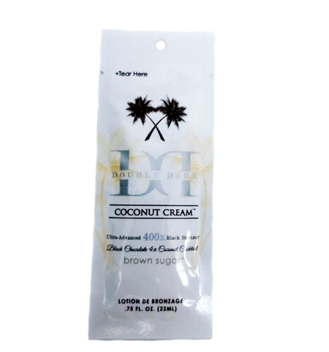 Brown Sugar Black Chocolate DOUBLE DARK COCONUT CREAM 400X - .75 oz. Packet