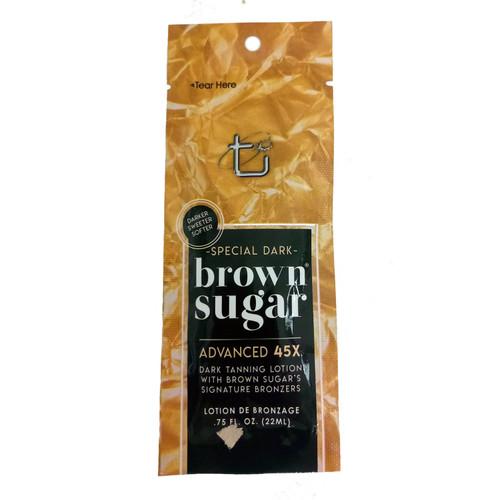 Brown Sugar SPECIAL DARK  45 Bronzer Dark Lotion  - .75 oz. Packet