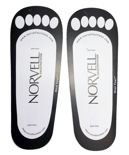 Norvell Disposable Cardboard Sunless Sticky Feet