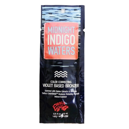 Fiesta Sun Midnight Indigo Waters Water Violet DHA Bronzer - .75 oz. Packet