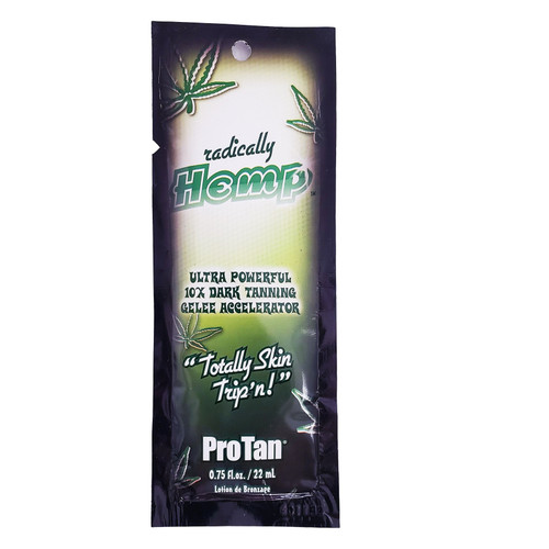 Pro Tan Radically Hemp Ultra Powerful 10X Dark Tanning Gelee Accelerator- .75 oz. Packet