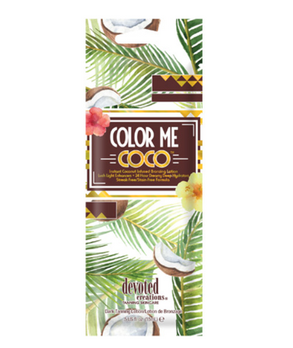 Devoted Creations Color Me Coco Instant Coconut Infused Bronzer - .50 oz. Packet