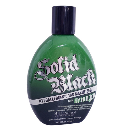 Millennium Solid Black Tan Maximizer with Hemp - 13.5 oz.