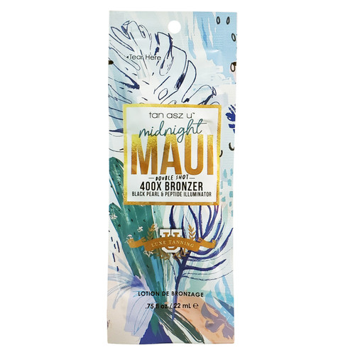 Tan AsZ U Midnight Maui Double Shot 400X Bronzer  - .75 oz. Packet