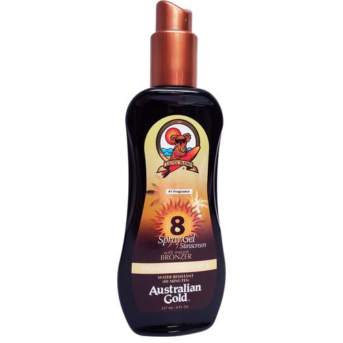 Australian Gold SPF 8 Spray Gel with Bronzer 8oz