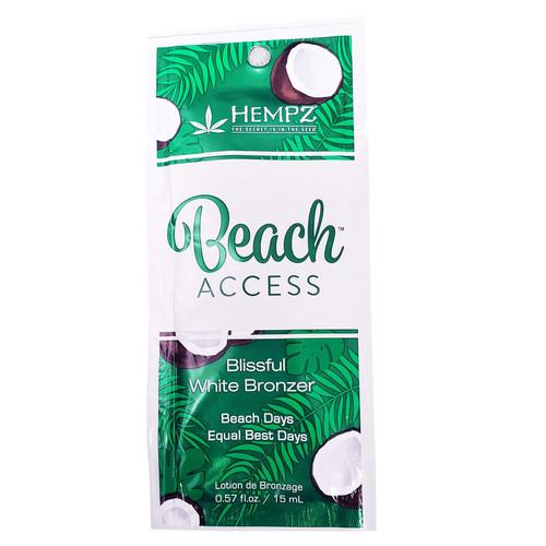 Hempz Beach Access Blissful White Bronzer- .57 oz. Packet