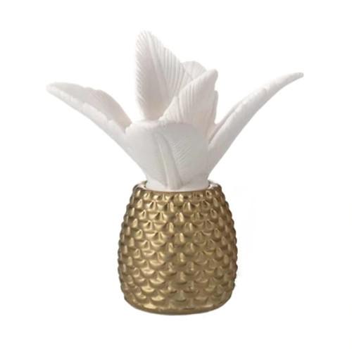 Ellia Palm Queen Porcelain Aroma Diffuser - White back drop, Pineapple shape non electric diffuser - HoMedics Canada