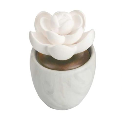Ellia Lotus Leaf Porcelain Aroma Diffuser - Main Flower shaped non electric diffuser - HoMedics Canada