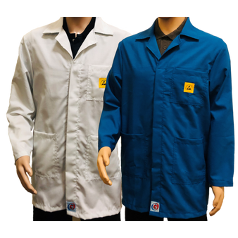 HEAVY DUTY PREMIUM ESD Lab Jackets (3 colours)