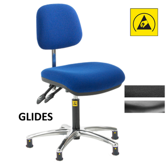 Anti-Static Ergonomic Chair - Glides
