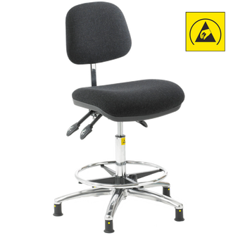 ESD Ergonomic Chair - High Footring