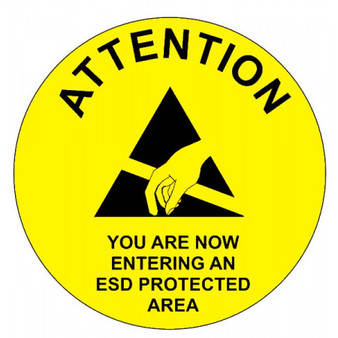 Attention Now Entering Awareness Sign 300mm Ø ESD