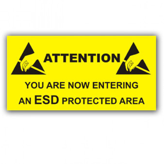 Entering A Protected Area Awareness Sign ESD