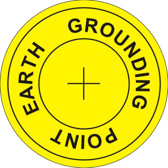 Earth Grounding Point Labels (1000/roll) ESD