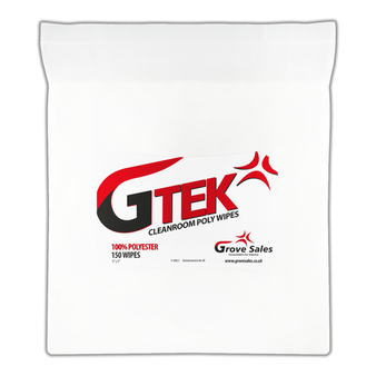 G-TEK CLEANROOM POLY WIPES 225 x 225mm 100 Wipes