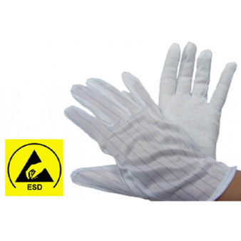Dotted Palm Grip Gloves - 1 Pair ESD