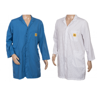 STANDARD ESD Lab Coats BLUE or WHITE