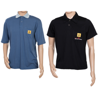 STANDARD ESD Polo Shirts BLUE or BLACK