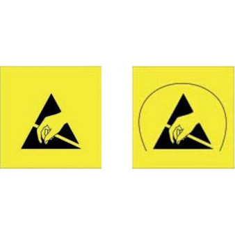 Small Warning Labels with or without Arc (1000/roll) ESD