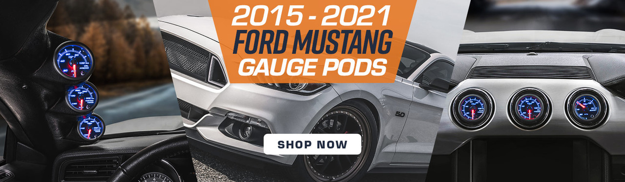 GlowShift Gauge Pods for 2015-2020 Ford Mustang