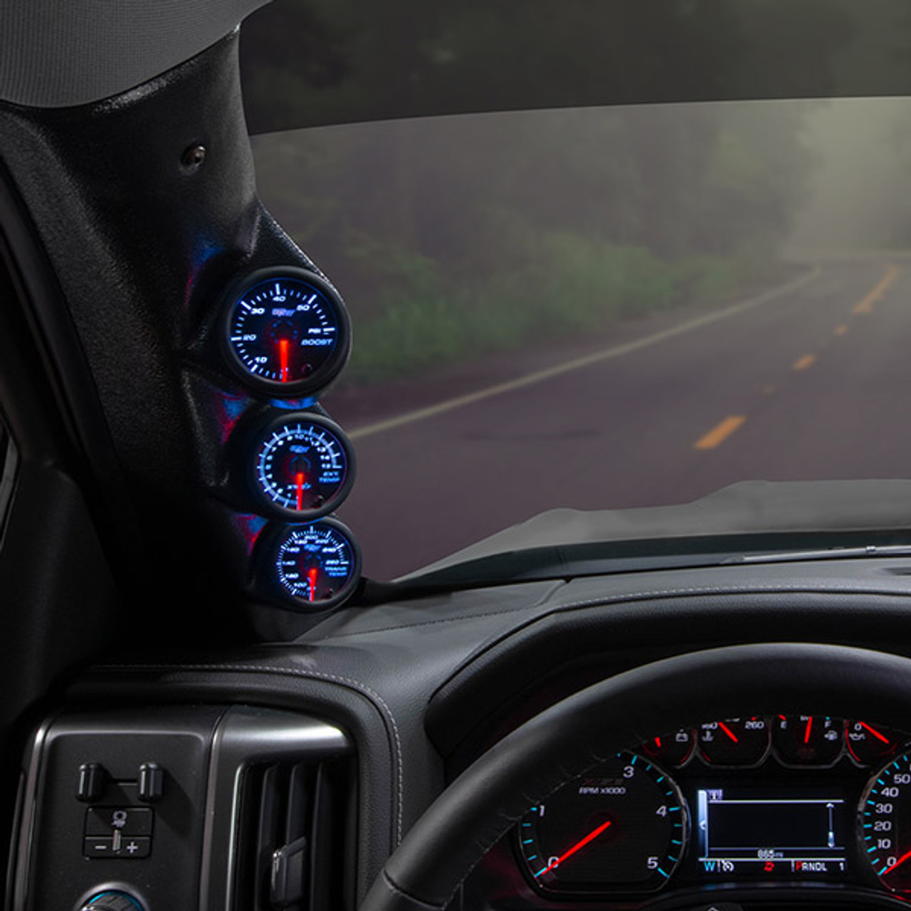 2014-2019 Chevy Silverado Duramax Custom 7 Color Series Gauge Package | Chevrolet Silverado Lmm Fuel Gauge Wiring |  | GlowShift
