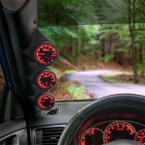 Elite 10 Color Series Triple Gauge Package for 2006-2008 Honda Civic Sedan