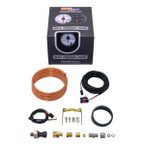 GlowShift White 7 Color 100 PSI Exhaust Drive Pressure Gauge Unboxed