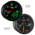 Black & Green MaxTow 30,000 PSI Fuel Rail Pressure Gauge On/Off View