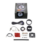 GlowShift White Elite 10 Color Water Coolant Temperature Gauge Unboxed