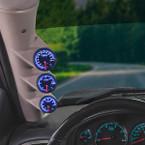 Elite 10 Color Series Triple Gauge Package for 2007-2013 Chevrolet Silverado Duramax Installed