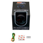 """GlowShift Tinted 7 Color 3 3/4"""" Tachometer Gauge w/ Shift Light Unboxed"""
