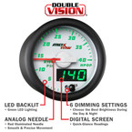 White & Green Double Vision Gauge
