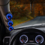 Elite 10 Color Series Triple Gauge Package for 2010-2018 Dodge Ram Cummins Installed